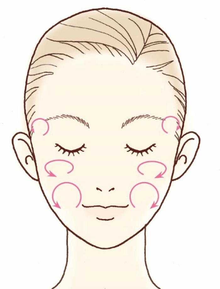 美容筋膜マッサージのやり方STEP1