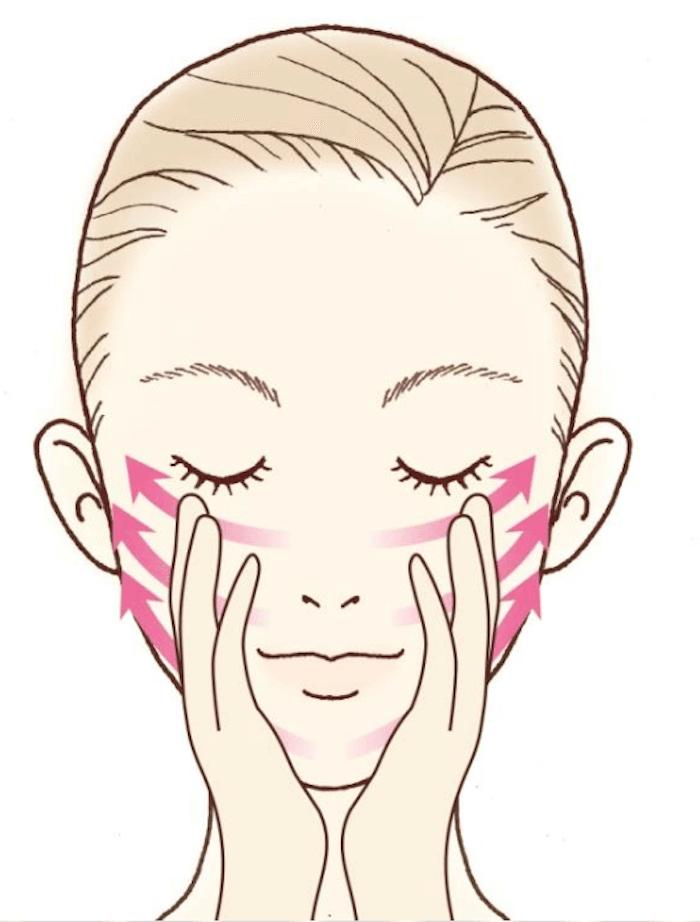美容筋膜マッサージのやり方STEP2