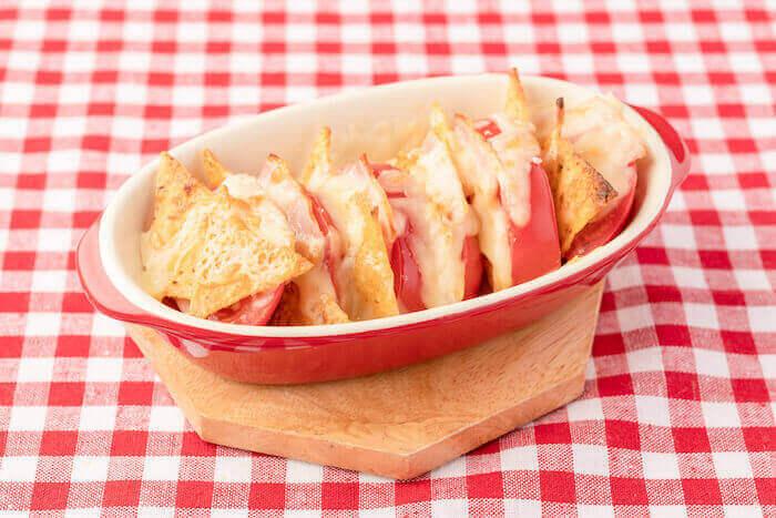 『トマトのチーズ焼きトルティーヤ』