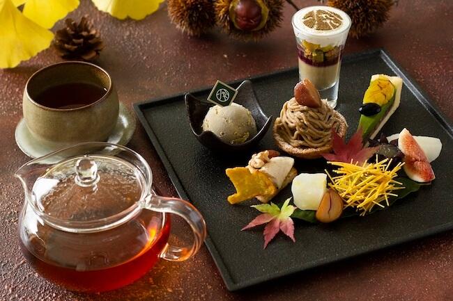 1899アフタヌーンティープレート+日本茶