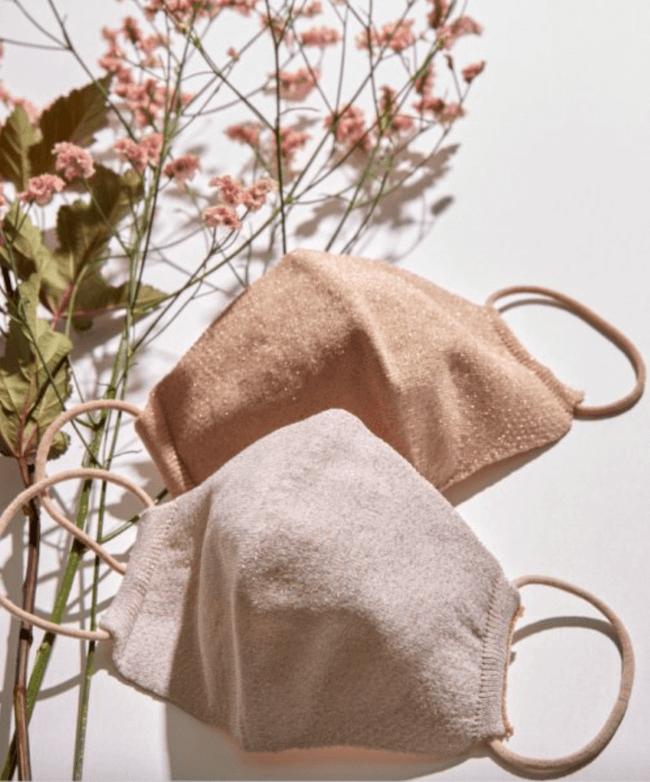 ロペ マドモアゼル『【巾着ポーチ付き】ラメニットマスク』