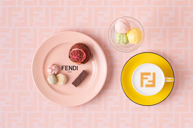 FENDI CAFFEケーキセット