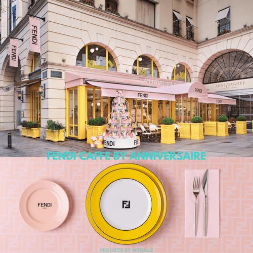 フェンディとアニヴェルセルカフェ、期間限定のコラボカフェをオープン!