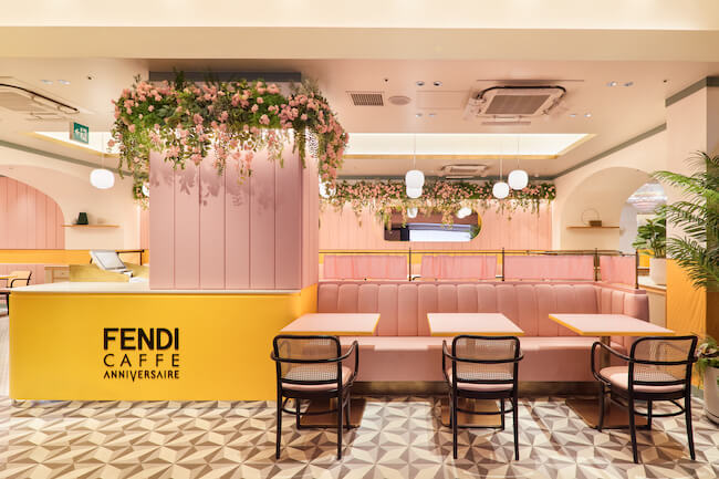 『フェンディ カフェ バイ アニヴェルセル(FENDI CAFFE by ANNIVERSAIRE)』店内