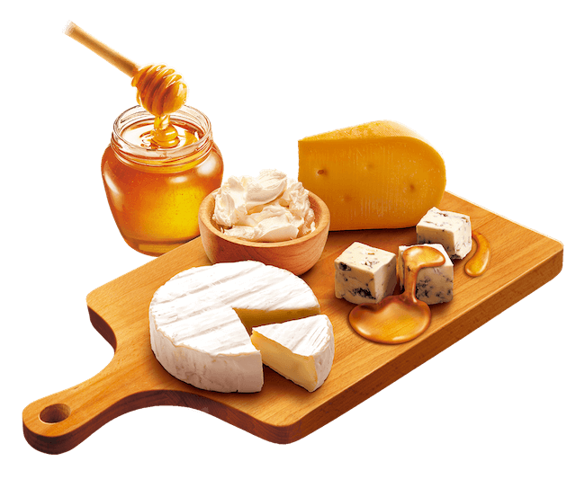 蜂蜜とチーズ