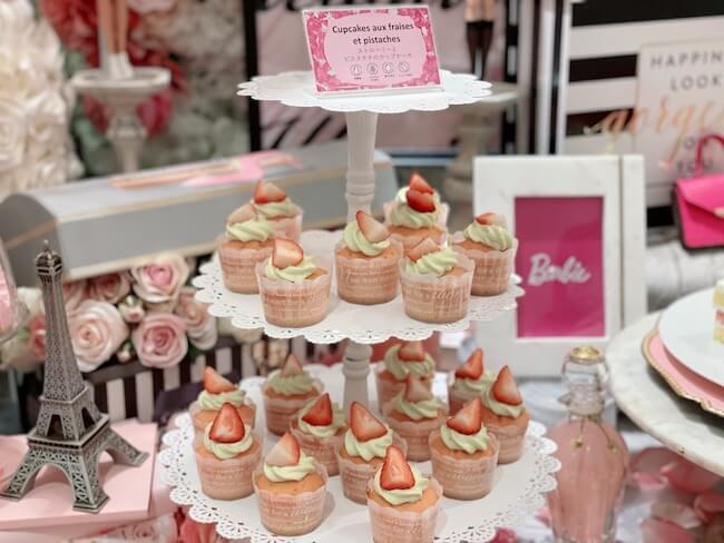 『ストロベリーホリック~Barbie in Paris~』ストロベリーとピスタチオのカップケーキ