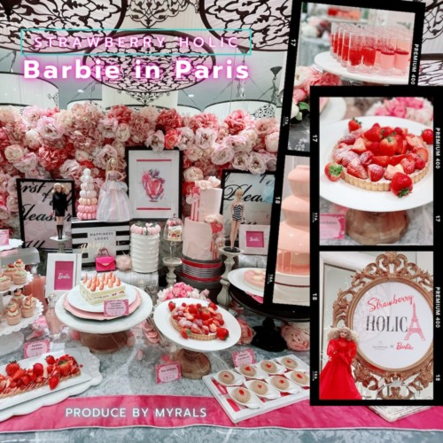 Barbieコラボビュッフェ第3弾!「ストロベリーホリック~Barbie in Paris~」