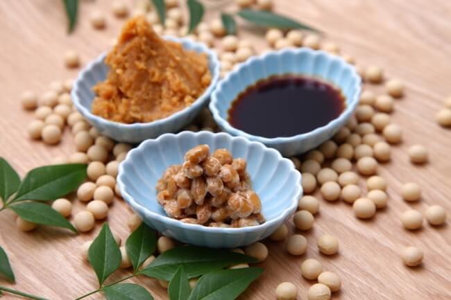 発酵食品・納豆・醤油・味噌・大豆