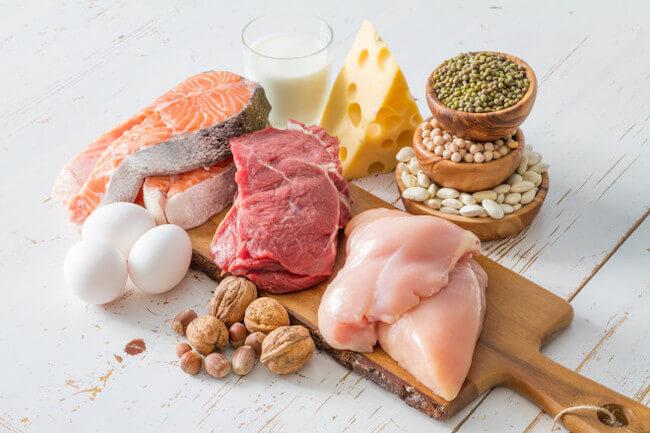 タンパク質を多く含む食材