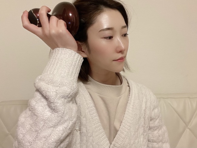 『ルメント ヘッドスパ』を乾いた髪に使用