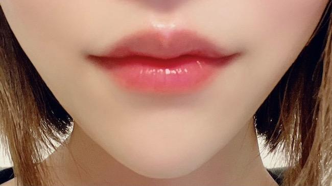 キュレル『リップケアバーム』を塗った唇