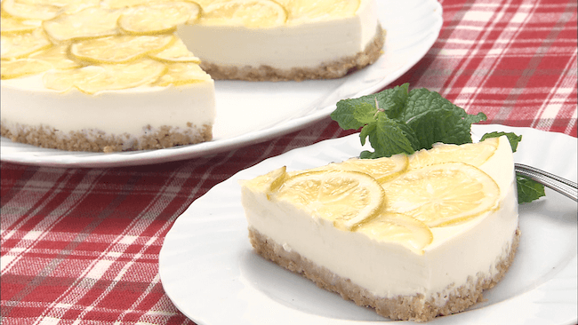 豆乳グルトのレアチーズケーキ風