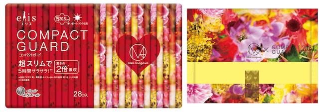 『エリスelis-コンパクトガード-M-mika-ninagawa-企画品』【多い昼〜ふつうの日用 20.5cm 羽つき】1パック28個入り