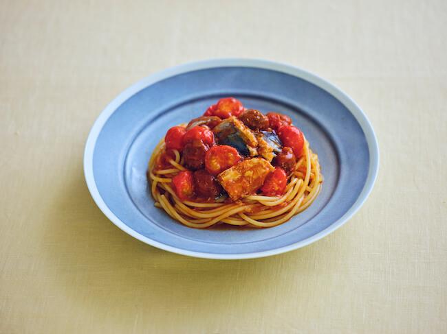 トマト鯖パスタ