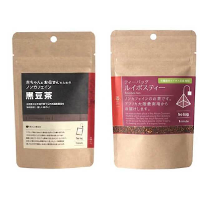 Gourmand Market KINOKUNIYA『茶のみ仲間「赤ちゃんとお母さんのための黒豆茶」「ルイボスティー」』