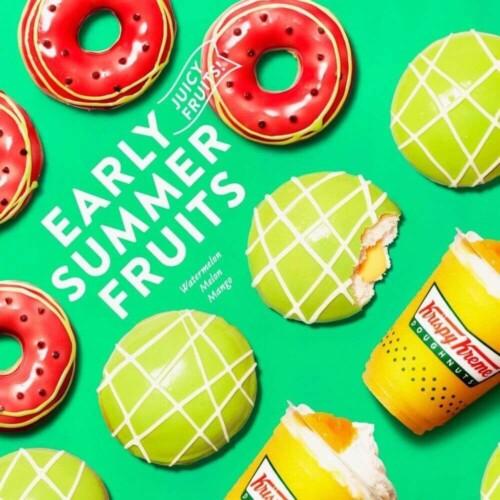 【初夏限定】スイカとメロンのフルーツドーナツ!マンゴーのフローズンドリンクも!