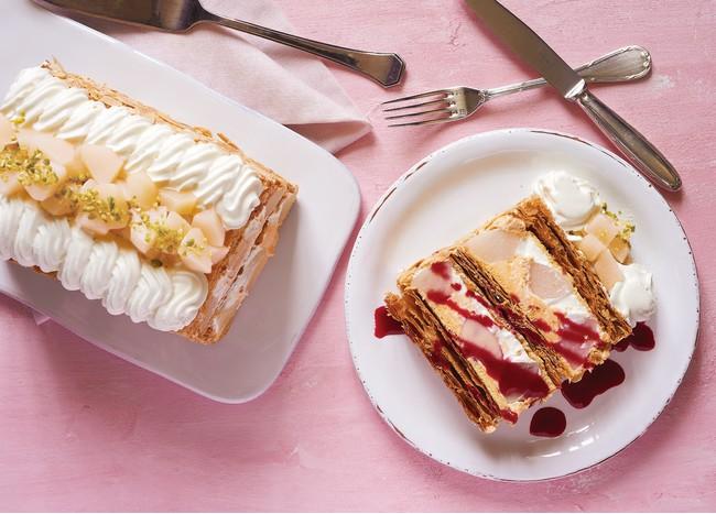 キハチ 青山本店『KIHACHIの白桃とヨーグルトクリームのピーチメルバパイ』