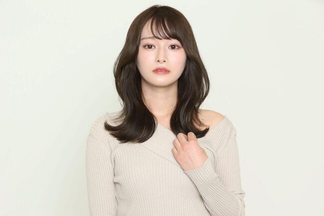 シースルー×S字バング_モデル