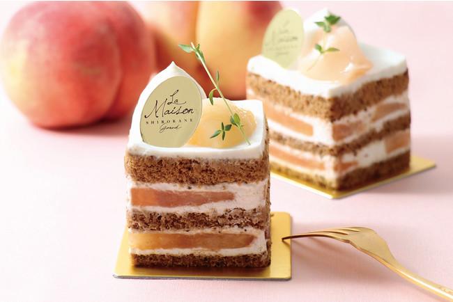ラ・メゾン白金グラン『桃と紅茶のショートケーキ』