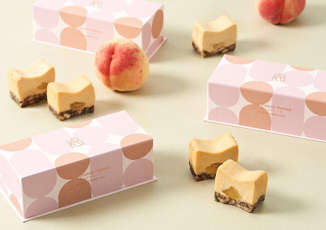 THE CHEESE TERRINE by BAKE CHEESE TART『桃とアールグレイのチーズテリーヌ』
