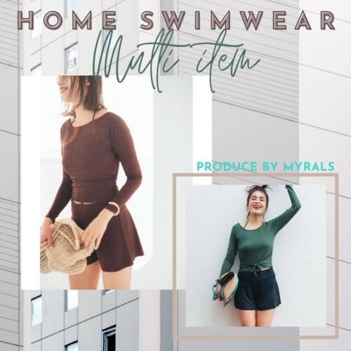 洋服やフィットネスウェアでも使える!大人女子が楽しむおうち水着特集