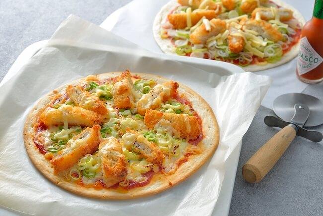 タラかつピザ